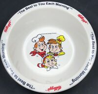 4 Vintage 1995 Kelloggs Cereal Bowls Toucan Sam  Snap Crackle & Pop And Corny