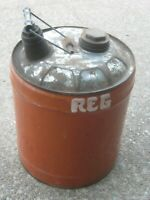 Vintage Used Old Gas Can Gasoline Can 5 gallons Metal Can