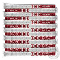 13x Golf Pride New Decade MultiCompound Whiteout MCC Grips Standard Red/White