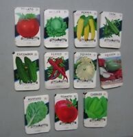 Wholesale Lot of 275 Old Vintage Vegetable SEED PACKETS - 15 cent - EMPTY - 11A