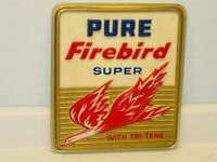 Vintage Pure Firebird Super With Tri-Tane Gas, Oil Sign, 3-D, Tank