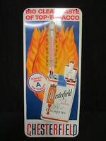 Vintage Chesterfield Cigarettes Tin Wall Thermometer (140)