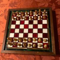 Coca Cola Stained Glass Chess Set The Franklin Mint