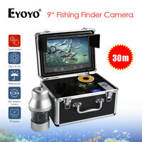 EYOYO 9 Inch Underwater Fishing Camera 360° 20M Fish Finder+Controller Ice Ri