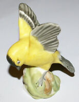 Vintage Crown Staffordshire American Goldfinch Figurine by Linley Adams * 3.75