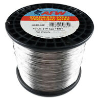 American Fishing Wire 40lb Stainless Steel Trolling Wire 5lb Spool 3840' G040-05