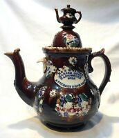 WILLIAM MASON MEASHAM WARE (MOTTOWARE) RARE LARGE SIZE TEA POT-PRESENT FROM UGLY