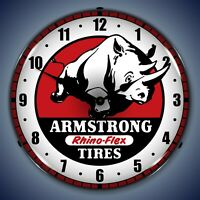 Armstrong Tire Wall Clock LED Lighted