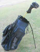 PING HOOFER Golf Club Stand Carry Bag DualStrap 5-Way 8-Pockets + DRIVER PING