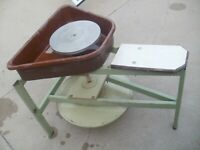 Vintage Pottery Kick Wheel  Doric Industries Maple Grove MN Potters