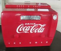 1991 Old Time Coca Cola Cooler AM-FM Radio and Cassette Player with Manual