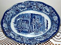 NEW? STAFFORDSHIRE LIBERTY BLUE MINUTE MEN BLUE SERVING DISH BOWL 9