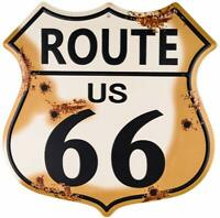 Route 66 Highway Rustic Wall Décor Shield Metal Sign