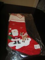 NWT Pottery Barn Kids Christmas Stocking Quilted Red Santa Rudolph NEW