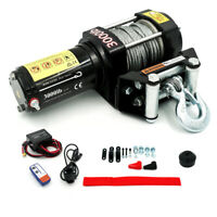 Electric 3000LB Winch 12V Remote Wireless Waterproof Steel Cable Kit fit ATV