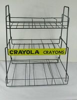Vintage Store WIRE DISPLAY RACK metal CRAYOLA CRAYONS