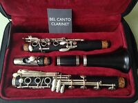 German Boehm Clarinet in Bb 1972 with extra base note Eb - F A Uebel Model 822
