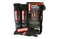 Motul Off-Road atv MX Chain Care Kit - Contains Gloves Lube Clean Brush 109788