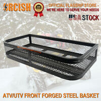 ORCISH Universal Front ATV Steel Cargo Basket Rack Luggage Carrier Mesh Surface