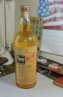 Antique White Horse Cellars Blended Scotch Whiskey Amber Store Display Bottle