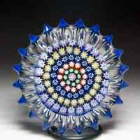 Perthshire Paperweights (1982-1995) concentric millefiori fluted paperweight