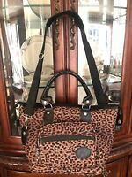 """American Flyer Leopard Carryon Carry On Bag Small Suitcase W Shoulder Strap 17"""""""