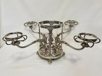 Silver Plate on Copper Centrepiece Epergne Antique Victorian Shells Griffins