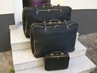 4 PORSCHE SUITCASE LUGGAGE CAR ACCESSORY 356 911 ORIGINAL PORSCHE SET CARFIT