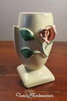 Haldeman Caliente Art Deco Applied Rose Pottery Vase