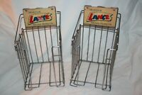 2 Vintage LANCE Salted Peanuts Counter Store Display Wire Racks