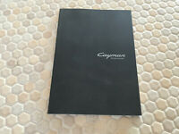 PORSCHE CAYMAN & S CODE OF CURVE PROMOTIONAL SALES BROCHURE 2014 USA EDITION