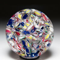 Antique New England Glass Company scrambled glass paperweight