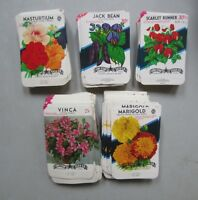 Wholesale Lot of 500 Old Vintage FLOWER SEED PACKETS - Lone Star TEXAS - 5 Diff.