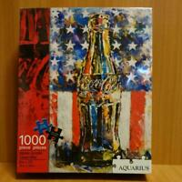 Coca-Cola jigsaw puzzle bottle and Star-Spangled Banner 1000 piece