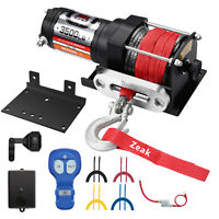 ZEAK 3500 lb Advanced 12V DC Electric Winch Synthetic Rope for Sports car ATV
