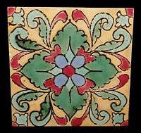 COLORFUL PATTERN 1930s VINTAGE SOUTHERN CALIFORNIA ART POTTERY TILE 8