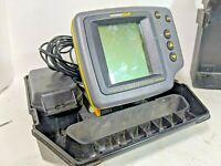 Humminbird Wide 128 Portable Fishfinder Works Fish Finder Case Transducer