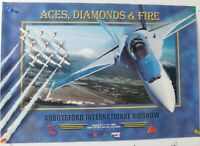 1999 20 X 28 INTERNATIONAL AIRSHOW SNOW BIRDS BLUE ANGELS RED PEPSI POSTER