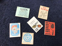 Vintage Retro Cracker Jack Paper Prize Toy Pad Paper Note Book 1950s lot of 6