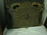 Large Brass Florsheim Shoes Sign Outside 27X20 35 lbs