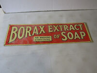 BORAX EXTRACT OF SOAP TIN ADVERTISING SIGN - COOL