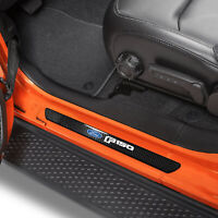 Ford F 150 2015 up Black Real Carbon Fiber 4 Universal Door Sill Protector Plate $39.99