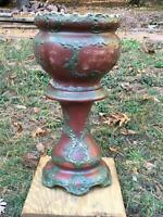 Massive Art Nouveau Antique Jardiniere & Stand HAYNES Baltimore MD Planter