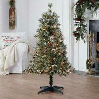 4 ft Pre-Lit Redland Spruce Artificial Christmas Tree Natural Appearance NEW