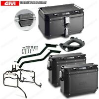 Set GIVI Bauletto OBKN58B & Suitcases OBKN37B BMW 1200 R GS Adventure K51