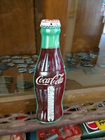 Vintage Tin Coca Cola Thermometer Sign Soda Beverage Donasco Made In Usa