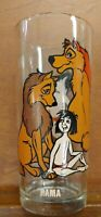 O125 1977 Vintage Jungle book Movie Glass with Rama Case Split