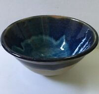 Catherine Hiersoux Berkeley California Wood Fired Art Pottery Bowl Blue 5