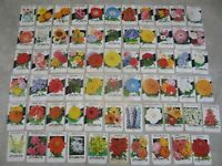 Lot of 65 Old Vintage 1950's FLOWER SEED PACKETS - Lone Star - EMPTY - All Diff.
