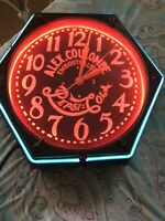 AWESOME Old Antique Early 1930's Vintage PEPSI COLA NEON Advertising SIGN CLOCK